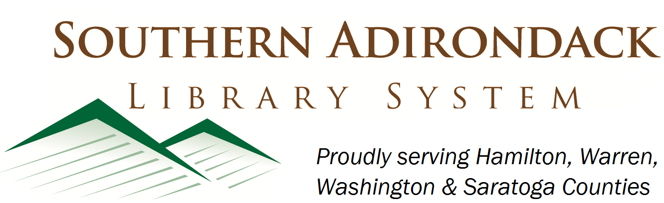 Southern Adirondack Library System logo, proudly serving Hamilton, Warren, Washington & Saratoga Counties